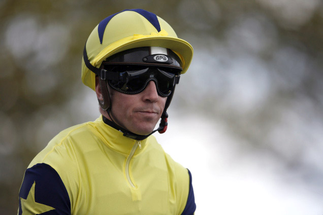 NEWMARKET, ENGLAND - APRIL 30: Jim Crowley poses at Newmarket racecourse on April 30, 2016 in Newmarket, England. (Photo by Alan Crowhurst/Getty Images)